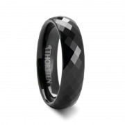AURORA 288 Diamond Faceted Black Tungsten Band - 4mm - 6mm