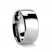 AUSTIN Domed Polished Finish Tungsten Carbide Ring - 10mm