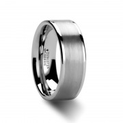AIRES Pipe Cut Brush Center Tungsten Carbide Ring - 4mm - 10mm