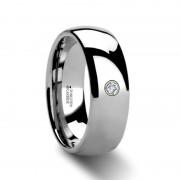BERKSHIRE Domed Diamond Tungsten Ring 4mm - 8mm