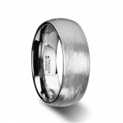BLACKWALD Domed Tungsten Carbide Ring with Deep Texture Brush Finish Design - 6mm - 8mm