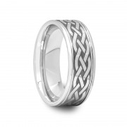 Engraved Celtic Design Tungsten Carbide Ring