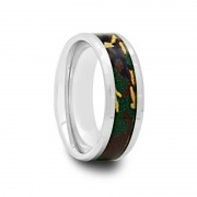 Mens Tungsten Carbide Ring with Military Camouflage Inlay