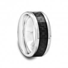 Tungsten Carbide Ring with Black Carbon Fiber