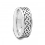 Celtic Knot Design Tungsten Carbide Ring 6 mm