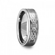 Engraved Celtic Pattern Tungsten Carbide Ring 6 mm