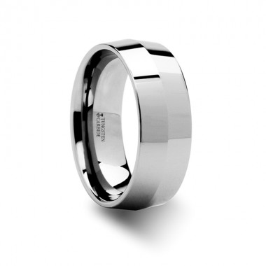 SHOGUN Knife Edge Tungsten Wedding Band - 4mm or 8mm