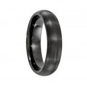 Edward Mirell Ring 6mm Traction Black Titanium Dome Ring