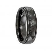 Edward Mirell Ring 7mm Black Titanium Hammered Ring