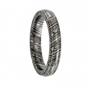 Edward Mirell Ring 4mm Timoku Domed Ridged Edge Band