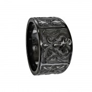 Edward Mirell Ring 14mm Black Titanium Flat Casted Design