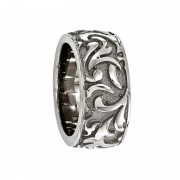 Edward Mirell Ring 11mm Titanium Ring with Casted Pattern