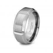Scott Kay Ring Century 9mm Slotted Cobalt Ring