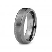 Scott Kay Ring Prime 7mm Cobalt Brushed Center Mens Wedding Band