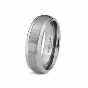 Scott Kay Ring Prime 7mm Grey Cobalt Mens Polished Edge Wedding Band