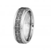 Scott Kay Ring Devout 7mm Flat Cobalt Ring with Laser Engraved Crosses