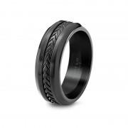 Scott Kay Ring Unity 8mm Cobalt & Black Titanium Mens Wedding Band