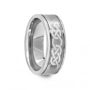 Engraved Celtic Pattern Tungsten Carbide Ring 8