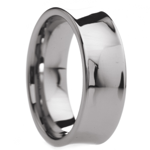Eternal Tungsten 8 mm Mens Tungsten Carbide Rings Wedding Bands Concave Polished Finish - Includes Engraving - Size 6 - ...