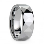 8mm Tungsten Carbide Ring Polished Symmetrical Facted