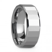 8mm Tungsten Carbide Ring Polished Finish Facets
